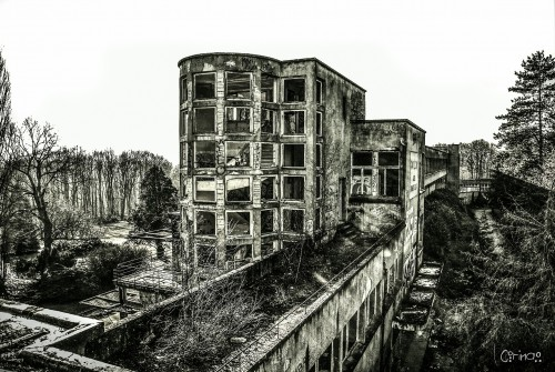 Rooftop view of an infamous Sanatorium in France, known to have been a tuberculosis center in the 1930s and a concentration camp during the Second World War.